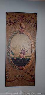 Unique Texture Asian Wall Art