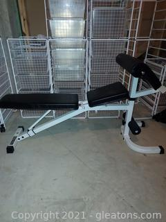 Keys Fitness Strength Trainer Incline Bench with Leg Extender Kit