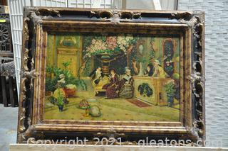Signed Original Antique French Impressionist