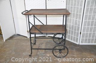 Art Deco Tea Cart Server