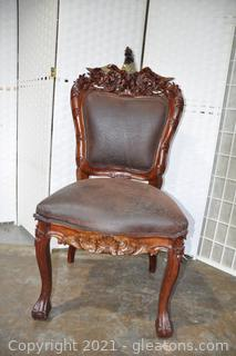 Renaissance Hand Carved Eagle Chair
