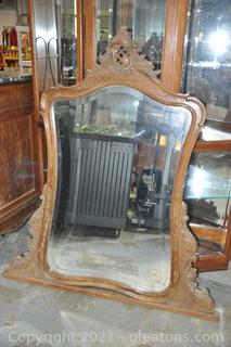 Hand Carved French Antique Mirror