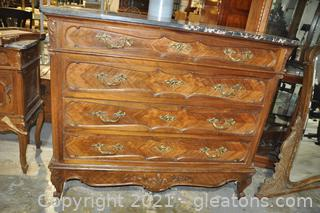 Hand Carved French Antique Chest of Drawers