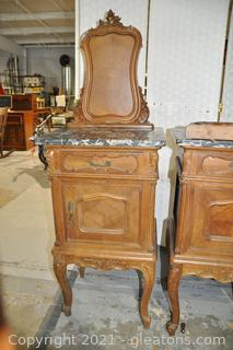 Hand Carved French Antique Bedside Chamber Pot Cabinet