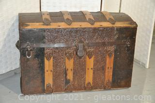 1880's Victorian Dome Top Antique Trunk