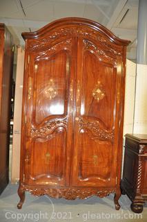 Inlaid Victorian Wardrobe