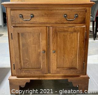 Ethan Allen Hardwood Nightstand/End Table - Made in America!