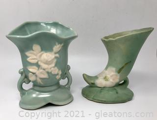 2 Weller Pottery Vases