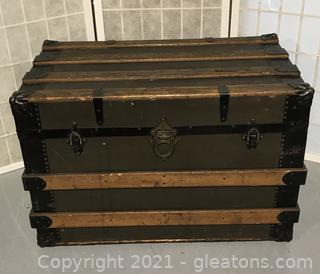 Henry Likly & Co Slatted Trunk - Circa 1870-1925