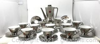 German 25 Pieces Porcelain Tea Set