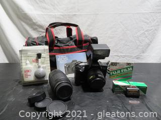 Classic Canon EDS 650 Camera and Case