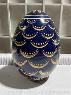 Pine Cone Egg Decorative Piece