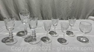 Eight Pieces of Crystal and Glassware Stewart England