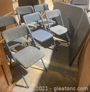 Blue Cosco Folding Tables and Chairs