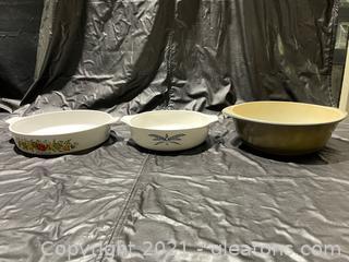 3 Piece Vintage Bakeware Lot