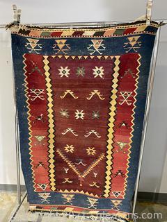Hand Woven Aztec Area Rug