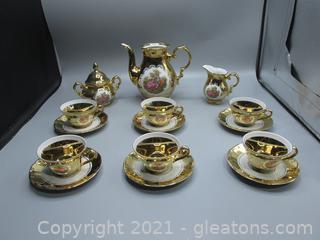 STW Bavaria Germany 24kt Gold Over Porcelain Tea Set