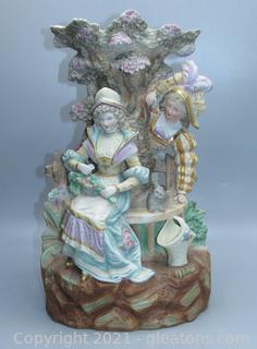 Antique German Figural Vase