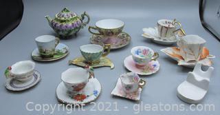 Unique Hand Painted Miniature Tea Cup Set