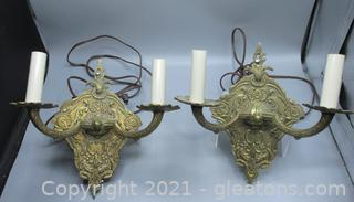 French Brass Sconces
