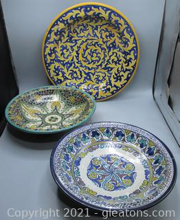 Hand Painted Bowls From Morocco