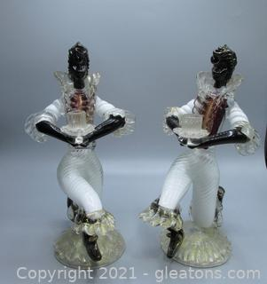 Timeless Murano Glass Candle Holders - Signed