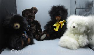 Collection of Real Fur Teddy Bears