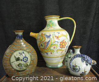 Beautiful Hand Painted Mexican Pottery