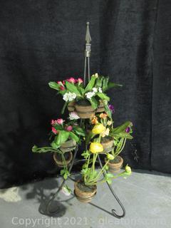 Wrought Iron Floral Decor