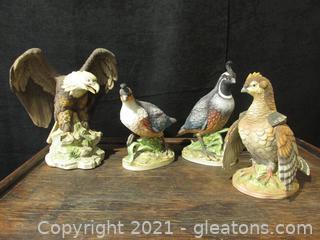 Eagle, Quail and Grouse Figurines