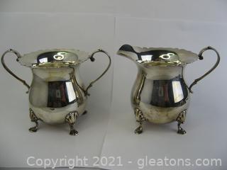 Sterling Silver Sugar & Creamer Set