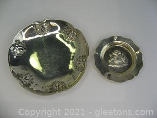2 Sterling Silver Trinket Dishes