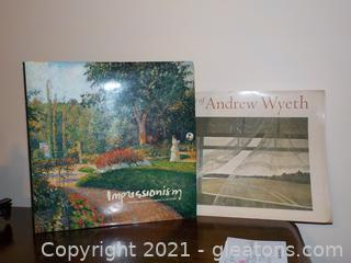 """""""The Art of Andrew Wyeth"""" And One other art Book showcasing 5 American Museums"""