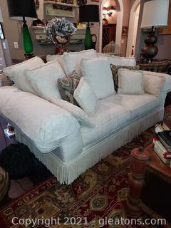 Beautiful Lane Two Cushion Rolled Arm Sofa