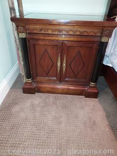 Mid Century Double Door Nightstand/With Pull Out Tray