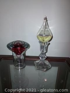 2 Unique Oil Candles