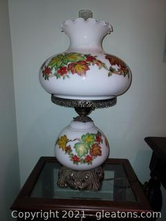 Beautiful Gone with The Wind Hand Painted Lamp