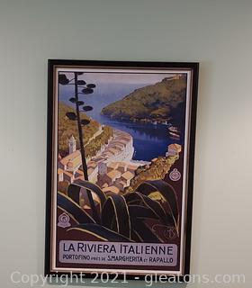 """Framed Poster """"La Riviera Italienne"""""""