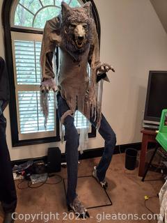 Life Size Towering Werewolf