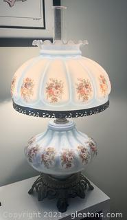 Vintage Floral Gone With the Wind Lamp
