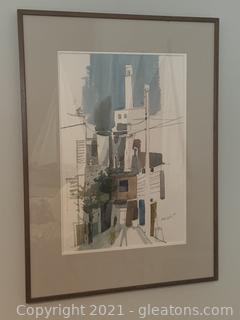Framed Noal Betts Watercolor