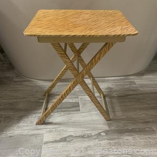 Lightweight Folding Zebra Print Table