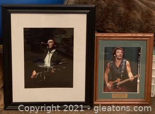 Two Framed Photos of Bruce Springsteen