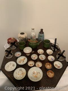 Japanese Tea and Vase-Porcelain Dish- Collection
