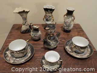 Vintage Japanese Tea Set (12 Pieces)