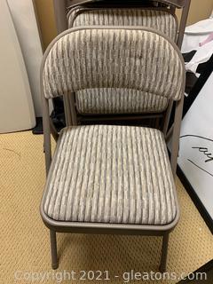 10 Metal Samsonite Folding Padded Chairs