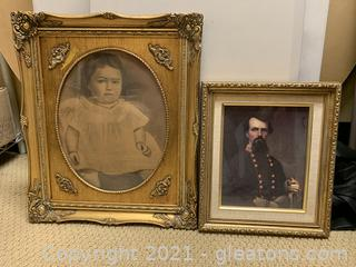 A Pair of Timeless Gold Framed Prints