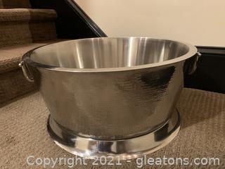 Silver Stainless Steel Beverage Tub
