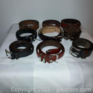 Nice Collection of Men's Leather Belts
