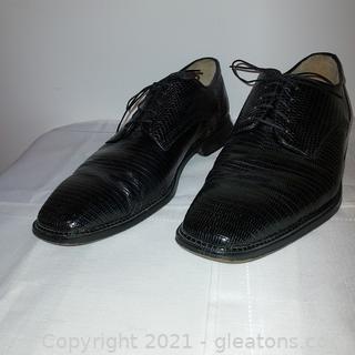 Nice Pair of Belvedere Black Genuine Lizard Men's Shoes